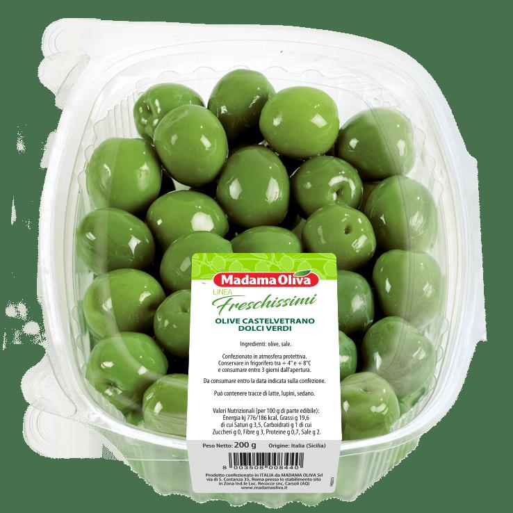 Olive-Castelvetrano-dolci-Verdi-linea-freschissimi-madama oliva
