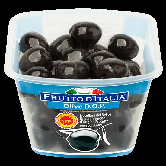 Olive-nere-Nocellara-del-Belice-D.O.P.-dolci nere Frutto-dItalia-Madama-Oliva