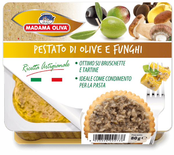 Pestato-di-Olive-Funghi-linea-pestati-Madama Oliva