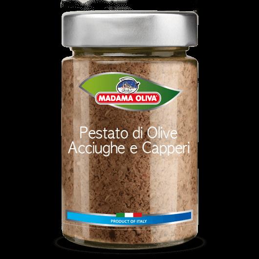 Pestato-olive-acciughe-capperi-linea-pestati-in-vasi-madama oliva