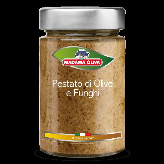 Pestato-olive-funghi-linea-pestati-in-vasi-madama oliva