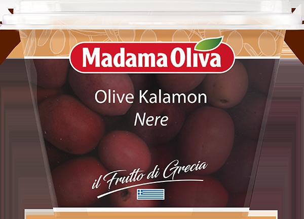 Olive-Kalamon nere Frutto-di-Grecia-Madama-Oliva