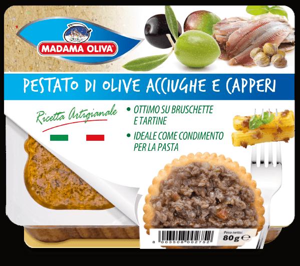 pestato-di-olive-acciughe-capperi-linea-pestati-Madama Oliva
