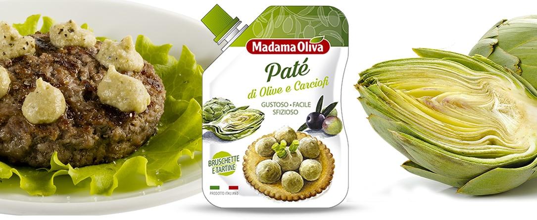 patè di olive e carciofi linea patè madama oliva